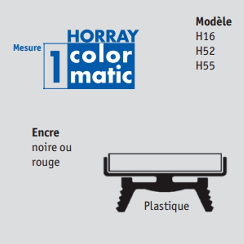 Recharge Horray Colormatic 1 pour H52/H55